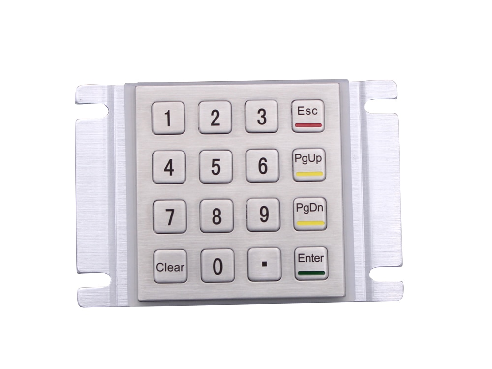 المعادن لوحة المفاتيح المخرب واقية وعرة لوحة جبل الفولاذ المقاوم للصدأ لوحة المفاتيح ل كشك الصناعية USB لوحة المفاتيح مع 16 مفاتيح 4x4 مصفوفة