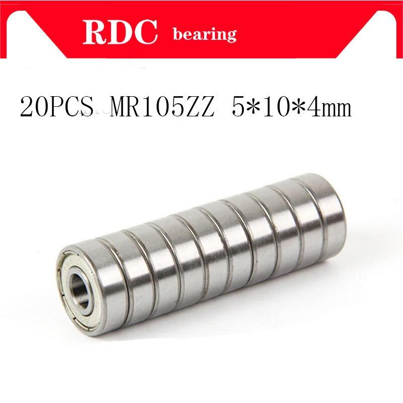 20Pcs ABEC-5 MR105ZZ MR105Z MR105 ZZ L-1050 5*10*4 5x10x4mm Metall dichtung Abgeschirmt Miniatur Hohe qualität rillen kugellager