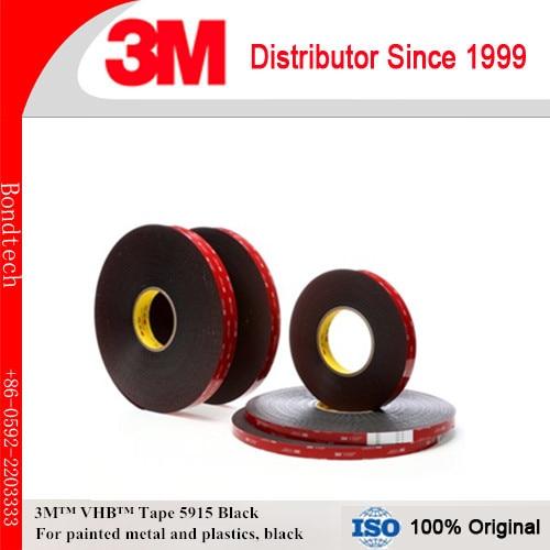 3M VHB الثقيلة تصاعد الشريط 5915 الأسود ، 0.4 مللي متر سميكة 12.5x36 يارد ، حزمة من 1