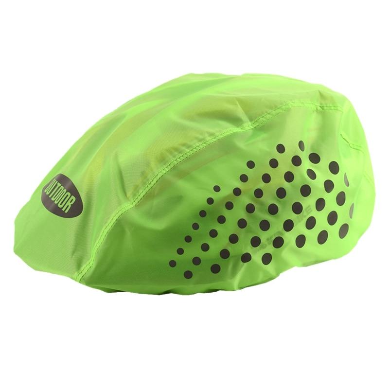 Reflective Bike Helmet Cover High Visibility Waterproof Bicycle Helmet Rain Cover Mtb Road Bicycle Ride Gear