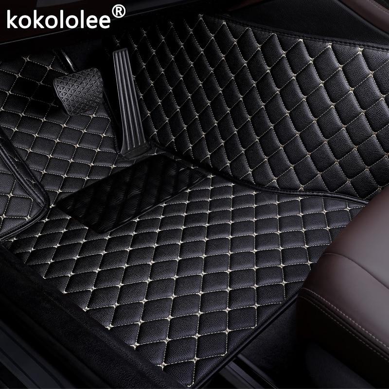 Car Floor Mats For Peugeot 3008 206 307 207 308CC 308SW 308 2008 408 308 508 301 4008 RCZ 301 car styling Custom foot Pads auto
