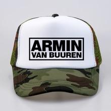 Mode Armin Van Buuren cap DJ Fans Trucker Mesh Cool Baseball caps Samen In EEN Staat van Trance Cap Vrouwen mannen Muziek Cap Hoed