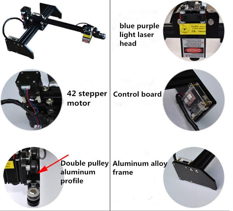Mini portátil multifunción automático DIY CNC máquina de grabado láser USB Logo Mark impresora cortador CNC enrutador