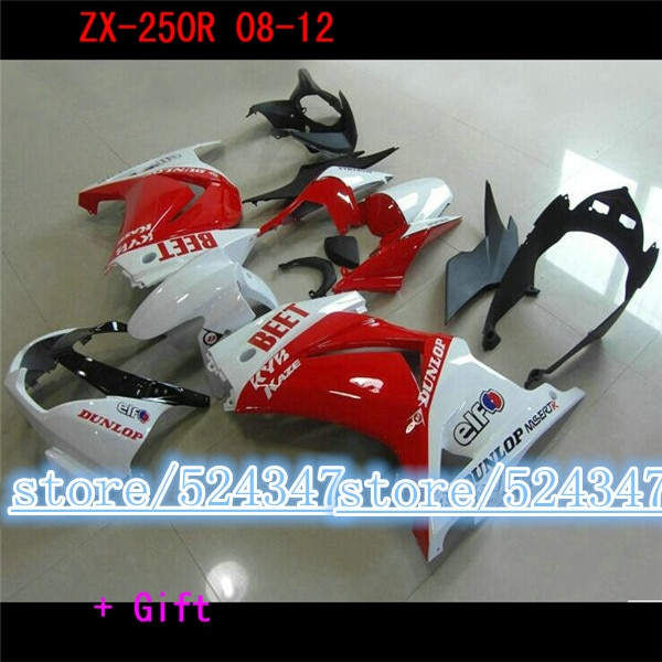 Gratis personalizar carenado kit para Kawasaki Ninja 250R EX250 2008 - 2012...