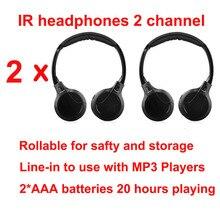 Słuchawki bezprzewodowe na podczerwień słuchawki stereofoniczne składane samochodowe słuchawki wewnętrzne zewnętrzne słuchawki TV słuchawki 2 słuchawki