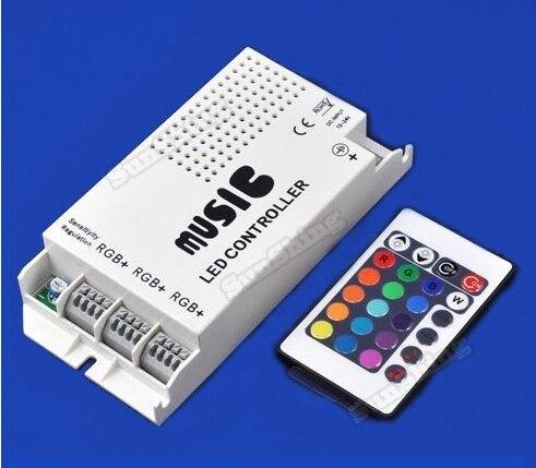 ضوء تحكم ضوء الشريط تحكم تحكم rgb led الأضواء 12-24 فولت 3 الطريقة والمخرجات اللاسلكية الموسيقى led ir تحكم عن