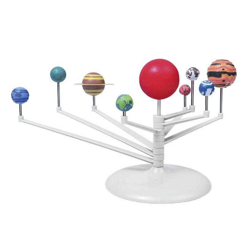 Neue DIY 3D Simulation Solar System Neun Planeten Skala Modell Explosionen Spielzeug