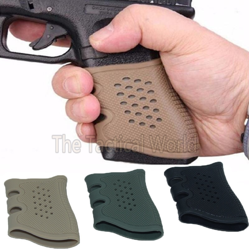 Caza pistola táctica de Airsoft funda para Glock 17 19 Beretta M9 HK USP Sig Sauer SP2022 adaptador cinturón funda pistola mango de goma