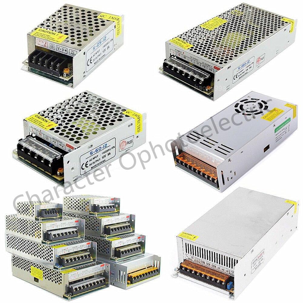 Controlador led AC100-240V a DC 12V 1A 2A 3A 5A 10A 15A 20A 30A 40A 50A adaptador de corriente para transformador de suministro de luz de tira LED