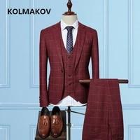 jacketvestpants2019 gentlemen style mens suits jackets business slim fit casual men suit prom party wedding suits for men