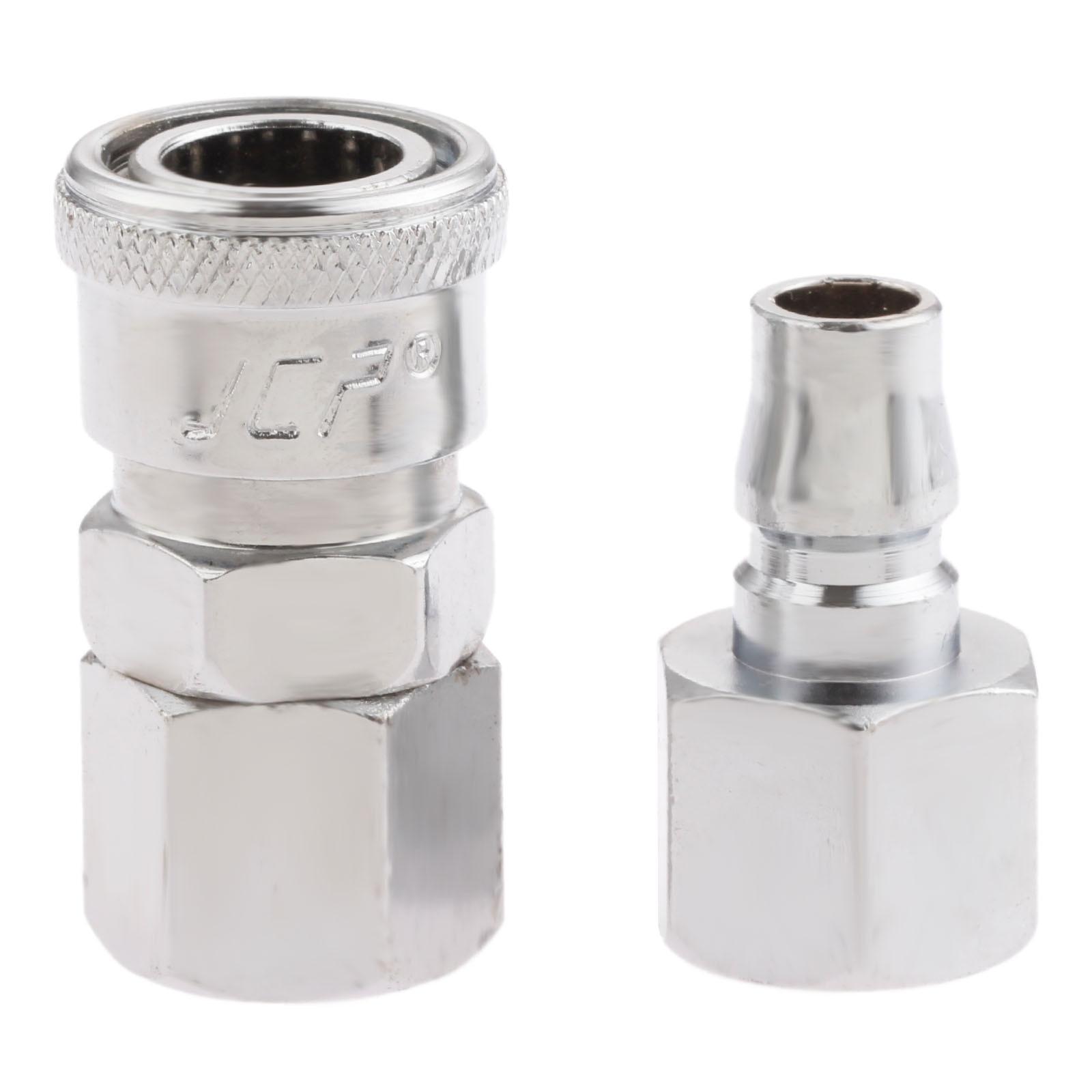 """Conector de compresor de manguera de aire Euro neumático de hierro de 2 piezas de liberación rápida 3/8 """"Conector hembra BSP SF30 PF30"""