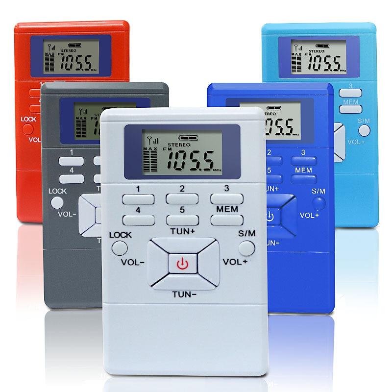 Pantalla LED Digital FM Radio Mini altavoz portátil receptor pantalla doble canal único reproductor de banda de música