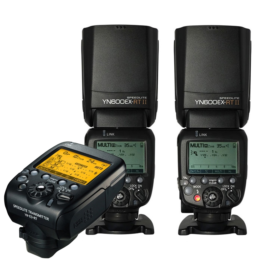 Yongnuo 2 шт. Yn600ex-rt II Беспроводная HSS вспышка с Yn-e3-rt радио передатчик набор света для Canon 1dx 1ds III 1d 5diii 5dii 6d