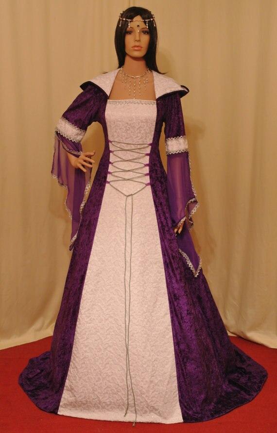 Handfasting medieval renacimiento vestido hecho a medida del Renacimiento y vestidos