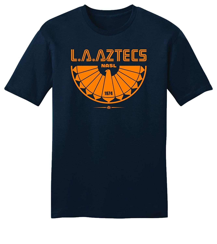 Negro hombres camisetas Homme Throwbackmax 1974 Nasl Los Angeles Aztecs Soccerite camiseta