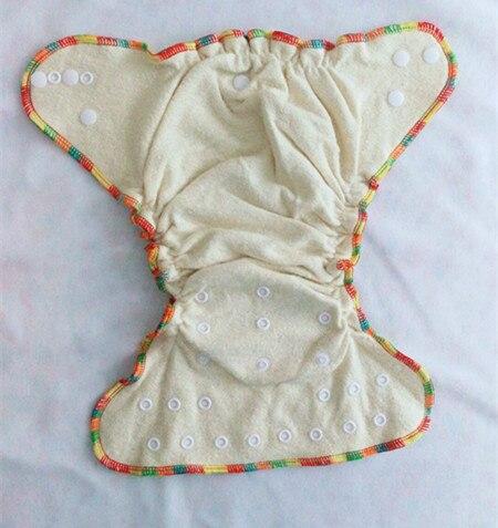 De alta calidad de los pañales de tela de alta calidad cáñamo/algodón orgánico pañal ajustado de tela y dos de tamaño doble filas encaje