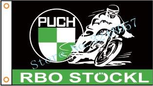 Bandera bandera para motocicleta PUCH Bandera de motocicleta 3x5ft poliéster 02