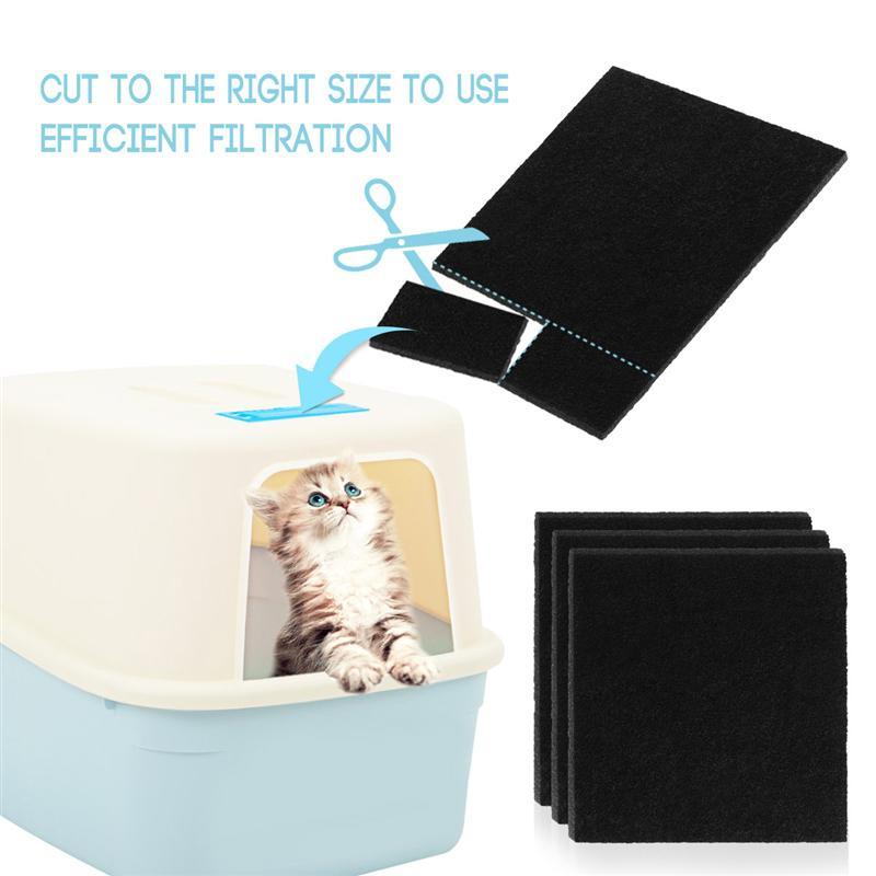 8 pièces en carbone éponge filtres pour chat litière boîtes de remplacement filtres pour chat litière boîtes filtre accessoires nettoyant de remplacement