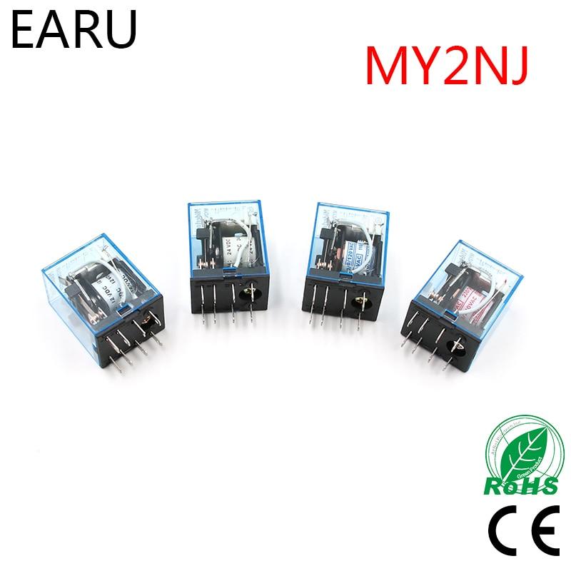 MY2P HH52P MY2NJ реле катушки общего DPDT микро мини электромагнитное реле переключатель переменного тока 110 В 220 В постоянного тока 12 В 24 В реле питания LED