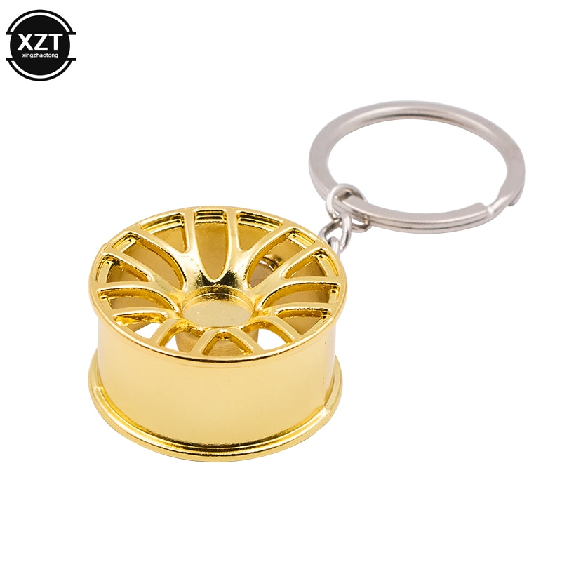 Car Key Chain Car Wheel Rim Model ForToyota Mitsubishi Mercedes BMW Audi Subaru Ford Opel Skoda Key Ring Holder Car Keychain