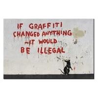 Affiche Graffiti a la mode  serie de toile  decoration murale  maison  photos 1 panneaux pour salon  vente en gros abstrait-102