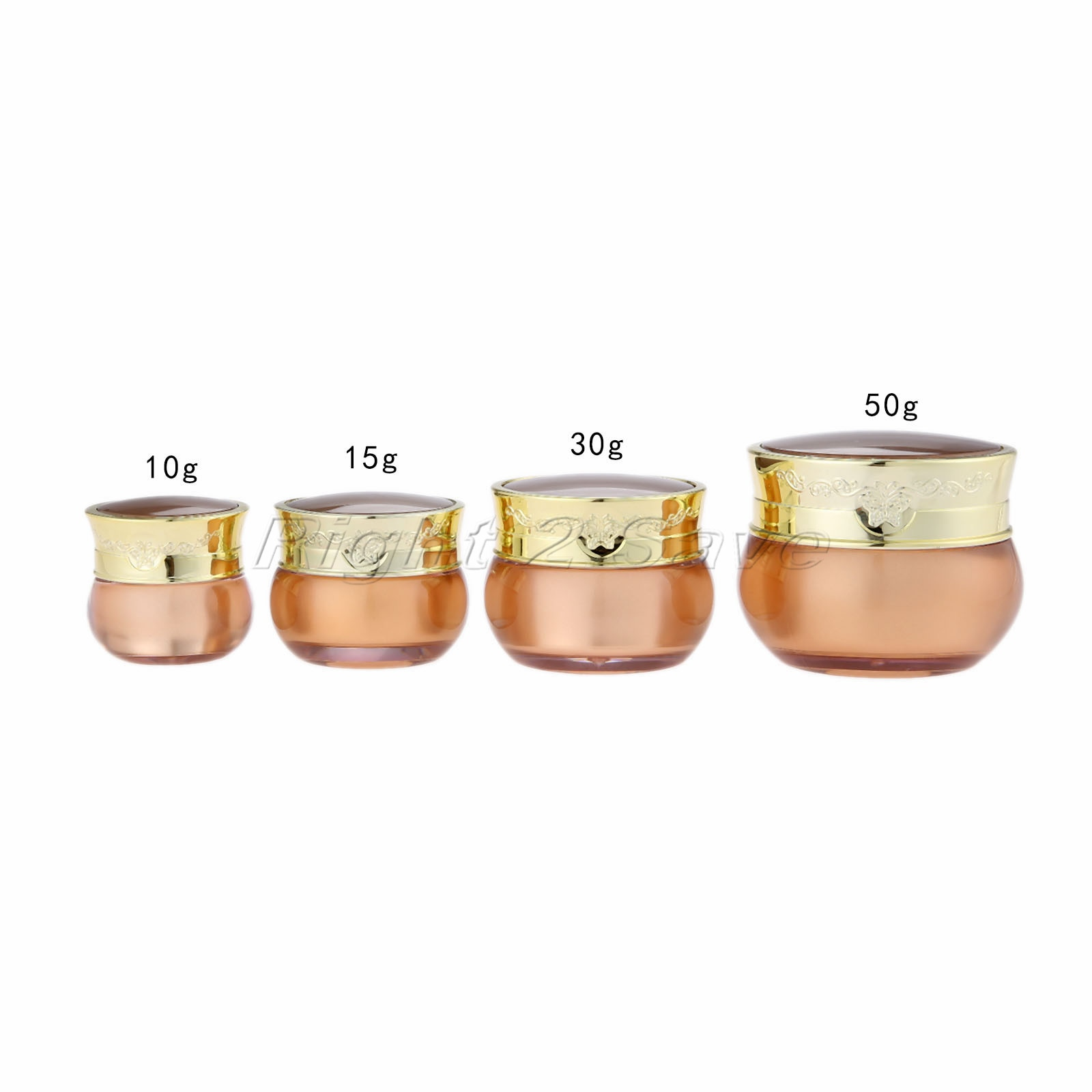Tarro de acrílico 10g/15g/30g/50g oro Crema de Cara de olla envase cosmético mariposa decoración vacía botella de embalaje botella de viaje portátil