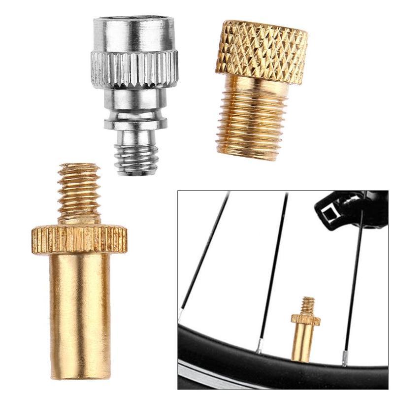 3pcs Bike Bicycle Presta to Schrader Valve Adapters+ Presta Valve Extension Pump Tools For Mountain Road Bike Valve Adaptor