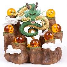 Dragon Ball Z Shenron + support de montagne + 7 boules de cristal figurines en PVC jouets de collection