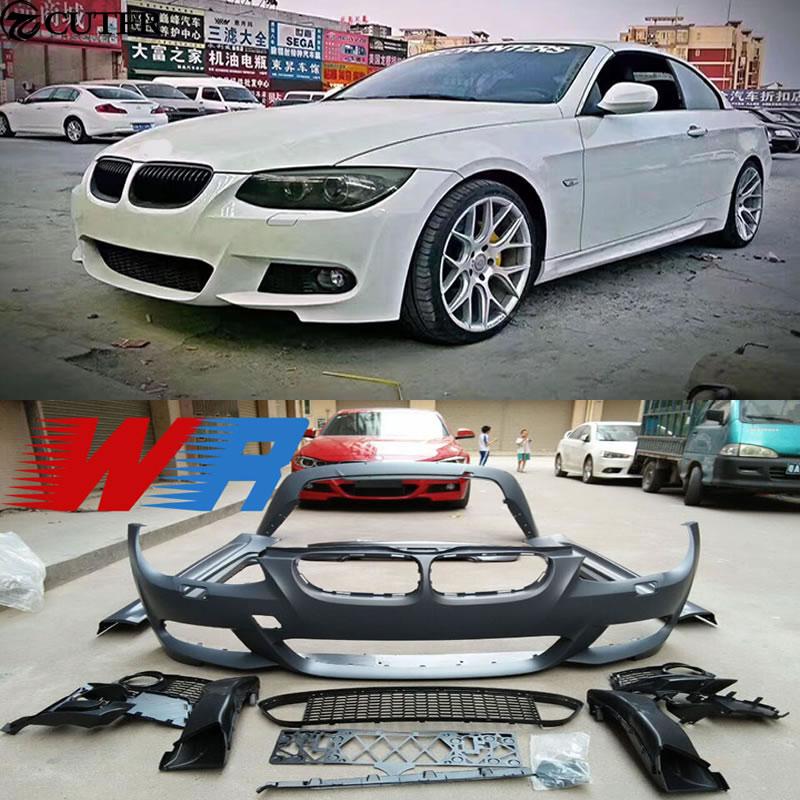E92 E93 3 серии M-TECH Комплект кузова автомобиля PP Неокрашенный передний бампер задний бампер для BMW E92 E93 325i 330i 335i 10-12