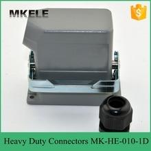 Connecteur de prise dair électrique rectangulaire   10 broches 16A 400/500V gros robuste, connecteur rectangulaire de prise dair à 10 noyaux,