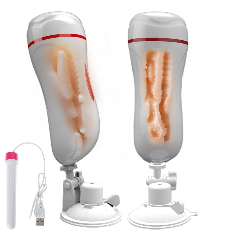 Fffsexo Vagina Anal masturbación Copa vibrador realista Vagina macho masturbador para hombre ventosa juguete sexual erótico