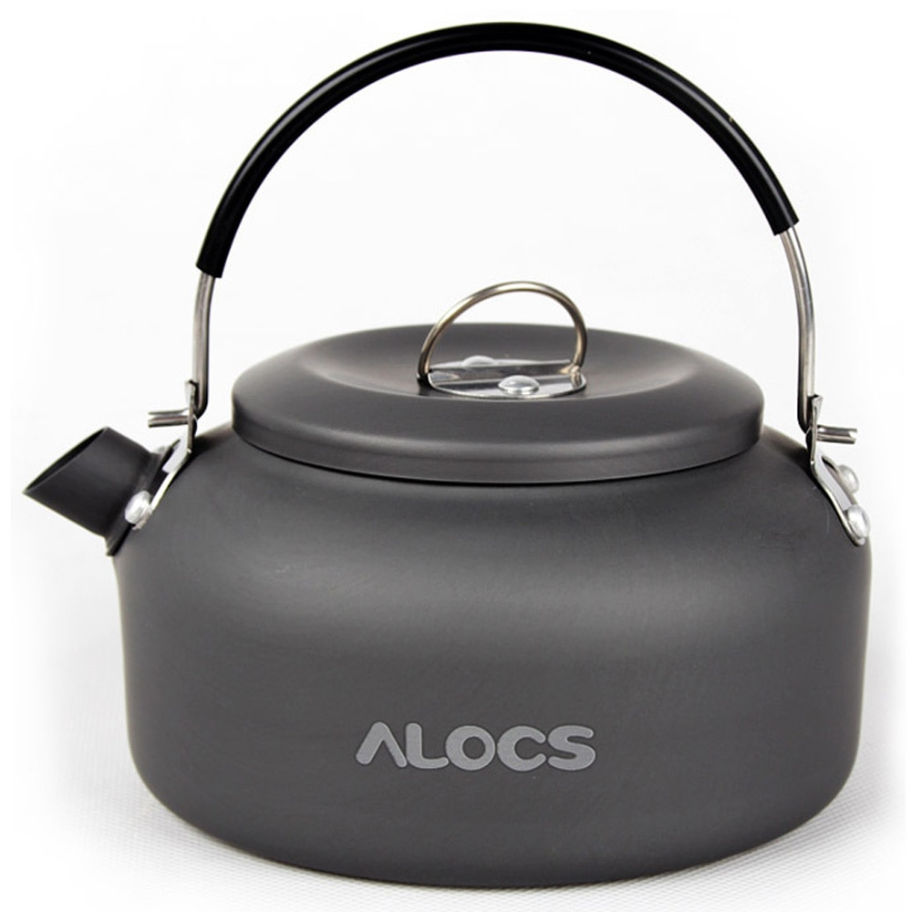 Alocs 0.8L/1.4L Outdoor Camping Kettle Water Kettles Coffee Pot Teapot Super Light