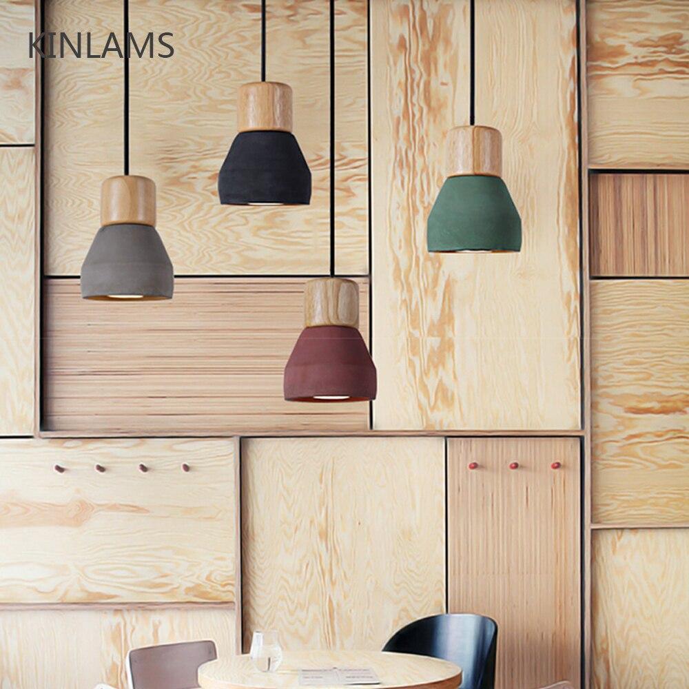 الشمال نمط سلك الثريا الخشب الاسمنت قلادة أضواء الحديثة ضوء LED E27 الحبل مصباح مطعم غرفة المعيشة مقهى غرفة نوم