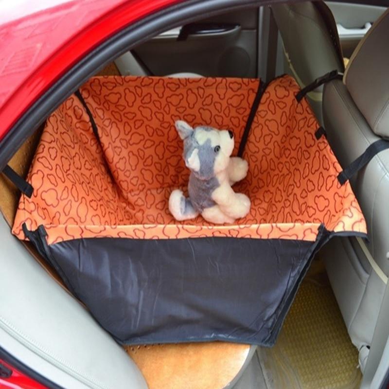 Mascota perro gato impermeable cubierta de asiento de coche manta cuna cama trasera mascotas hamaca cojín Protector azul rojo rosa naranja D0041