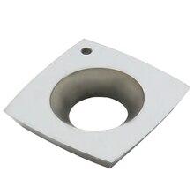 Couteau de tournage de tour, Insert en carbure à rayon frontal 4 bords carré lame ronde pour le travail du bois 15mm * 15mm * 2.5mm-R50 1 pièce