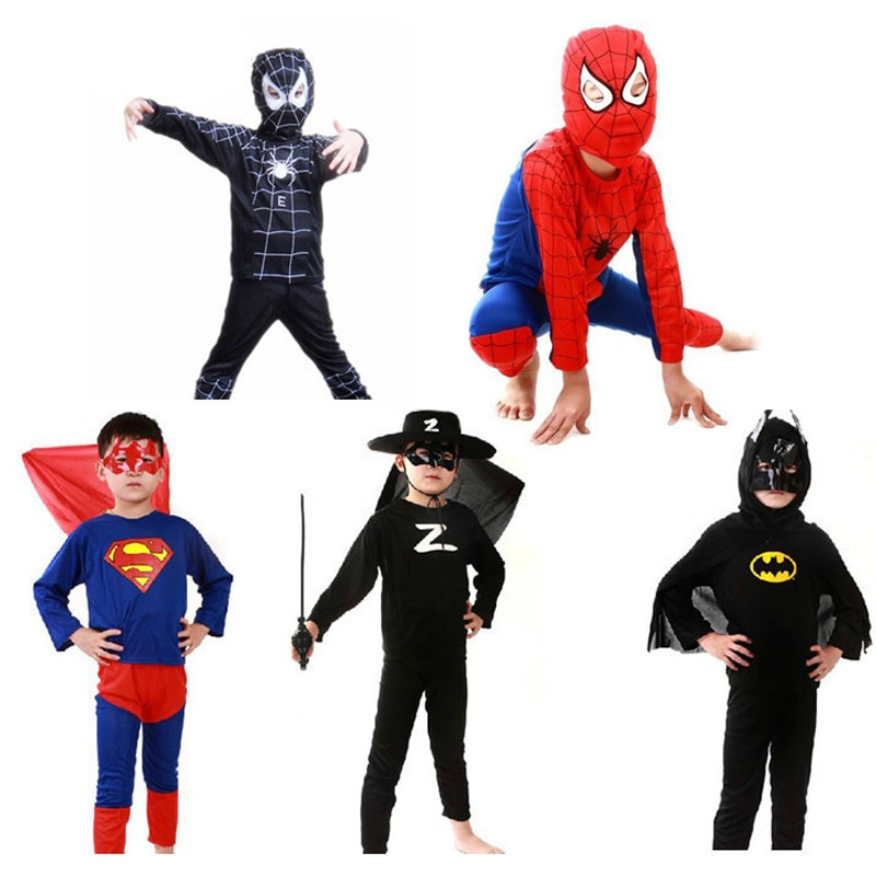 Disfraz negro batman superman halloween Disfraces para niños capas de superhéroes anime cosplay carnaval traje