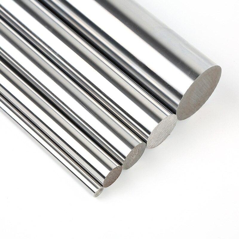 6mm 8mm 10mm 12mm 16mm lineare welle L 100 150 200 250 300 350 400 500 600 700 mm verchromte linear schiene runde stange für 3d drucker