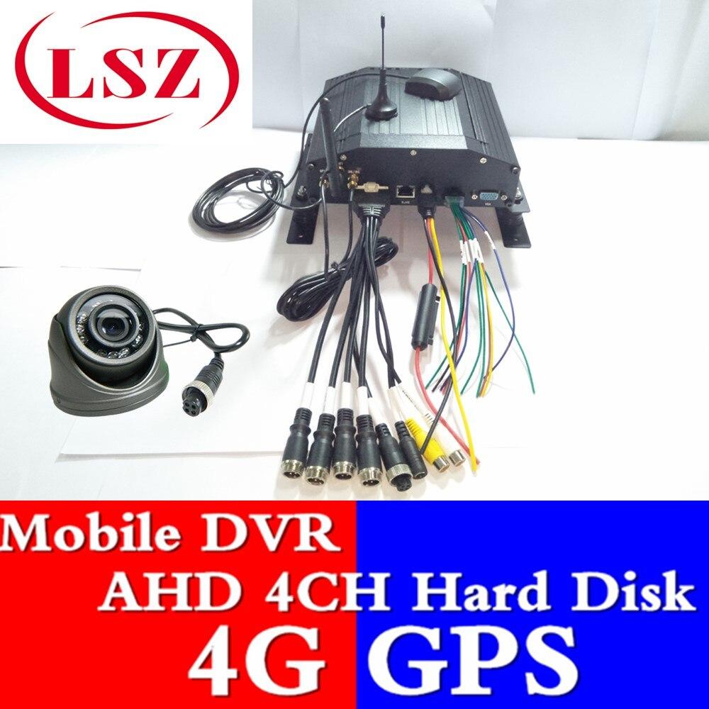 MDVR AHD 4 straße festplatte fahrzeug video recorder 4G networking fahrzeug überwachung host GPS positioning funktion