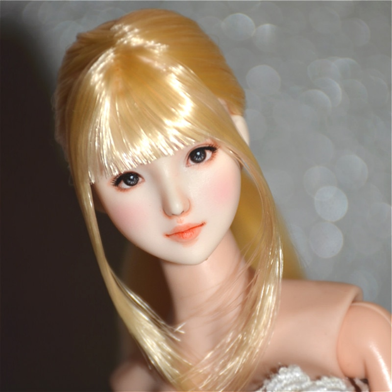 Estartek SY13 personalizado Maquillaje facial a mano 1/6 Obitsu asiático belleza chica cabeza esculpir para Phicen OB singuledoll figura de acción DIY