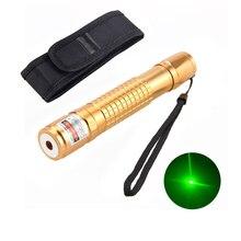 5mW Laser Verde Penna Puntatore Ad Alta Potenza Impermeabile 18650 Batteria Charger + Holster