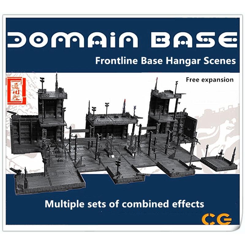 CG Universal HANGAR garage frontline base scene combination sets for Bandai Gundam DC010*