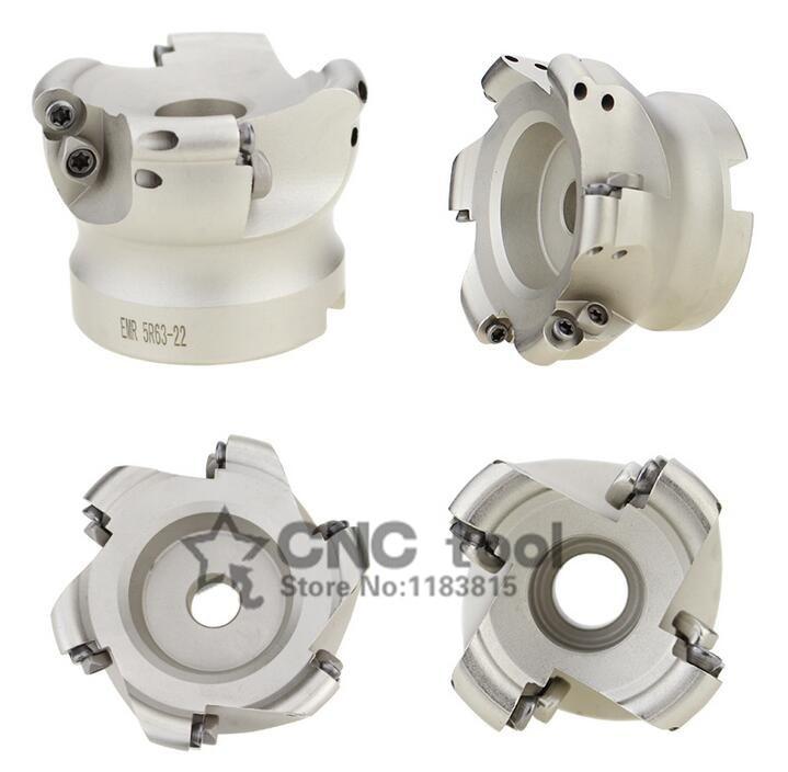 EMR6R 50-22-4F 63-22-4F 80-27-6F 100-32-6F CNC R6 Milling cutter dish Install RPMT1204 Carbide insert Free shipping