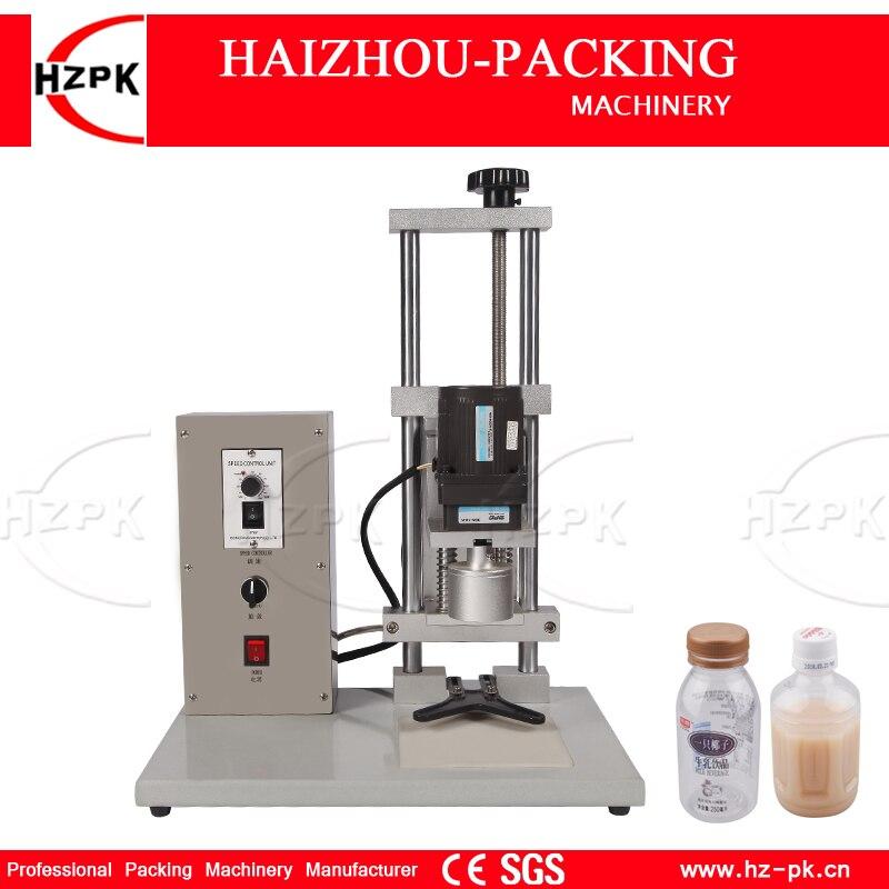 HZPK-آلة تغطية لولبية كهربائية نصف أوتوماتيكية لسطح المكتب ، محرك مزدوج ، رأس ألومنيوم للزجاجات البلاستيكية والزجاجية