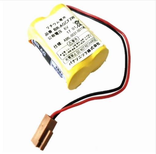 20 Uds 100% baterías lentes BR-AGCF2W litio 6 V PLC batería com macho preto Para Fanuc A98L-0031-0011 # L
