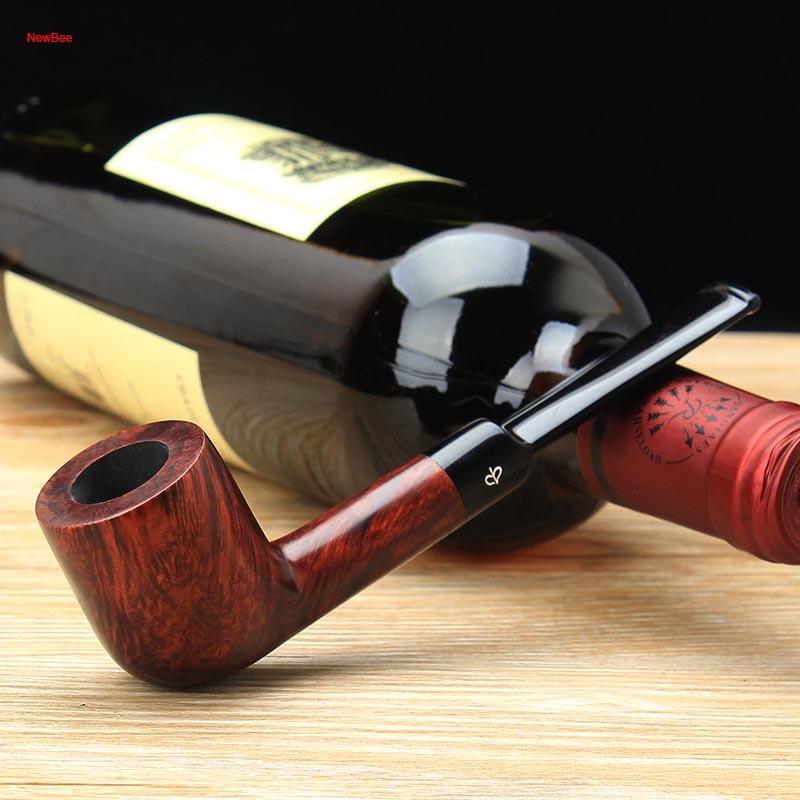 Bocal para Presente Masculino + 9mm Newbee Livre Ferramentas Briar Madeira Fumar Tubo Diferentes Cores Acrílico Sela Filtro Aa0007 10 Kit