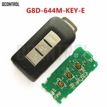 Qcontrol carro remoto inteligente chave terno para mitsubishi G8D-644M-KEY-E asx outlander esporte pajero shogun montero lancer rvr