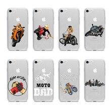 Coques de téléphone en silicone TPU souple rétro Moto Cross housse de sport Moto pour iPhone11 11Pro 11Pro Max XS Max XR 8 7 6 6S Plus X 5S