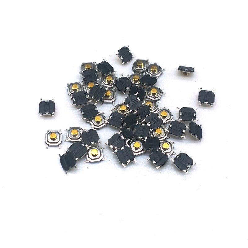 1000 unids/lote Interruptor táctil 5,2*5,2*2,2mm 4mm de Metal PIN de táctil 12V Micro interruptor del tacto SMT interruptor de botón de alta calidad