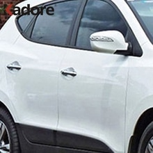 Für Hyundai Tucson ix35 2010 2011 2012 2013 Chrom Türgriff Abdeckung Trim Seite Tür Fangen Rahmen Auto Außen Zubehör