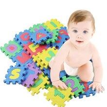 36 pièces enfant en bas âge bébé enfants ramper jouer jeu tapis Alphabet impression tapis exquis jouets soutien livraison directe